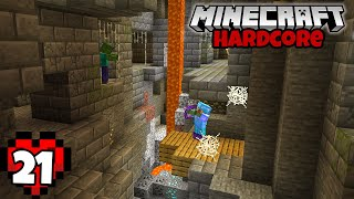 Let's Play Minecraft Hardcore - Lucky Stronghold Cave