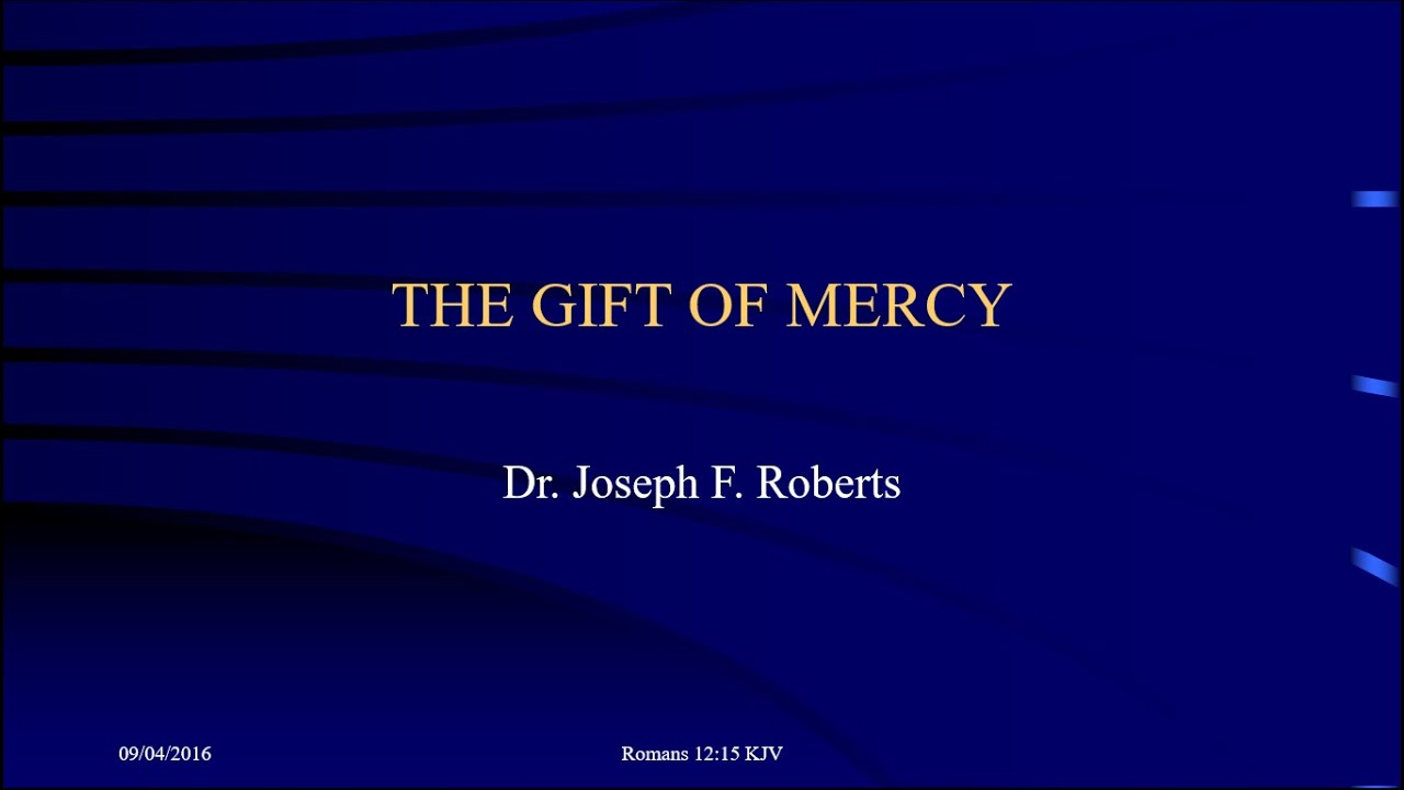 Spiritual Gifts - The Gift of Mercy - YouTube