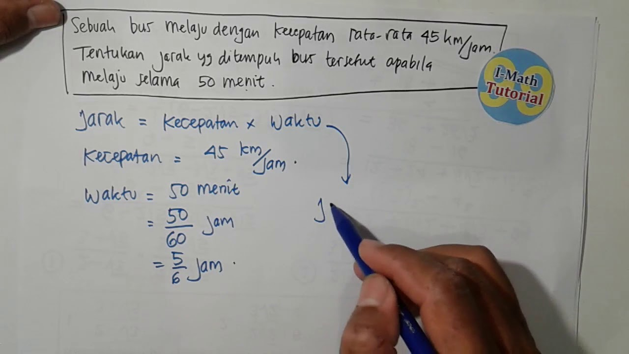Tutorial Cara Mudah Menghitung Jarak Tempuh Yang Diketahui
