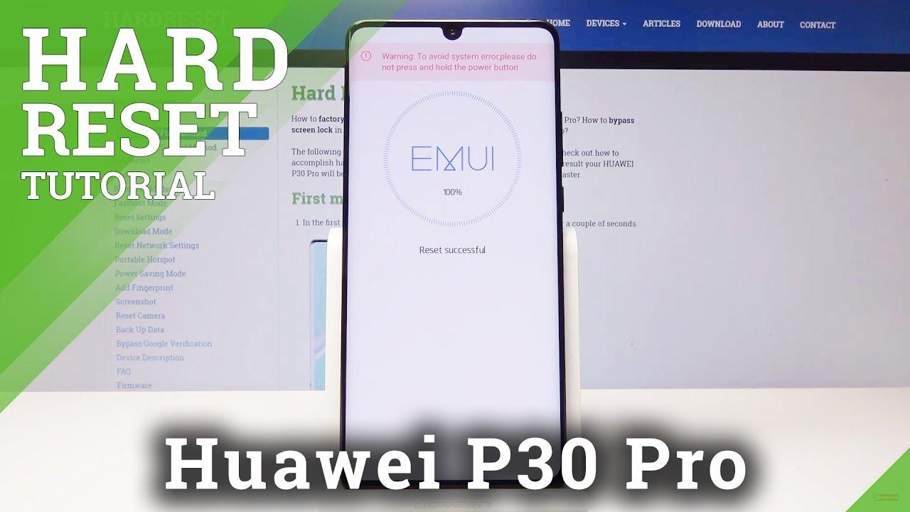 HUAWEI P30 Pro HARD RESET / BYPASS SCREEN LOCK