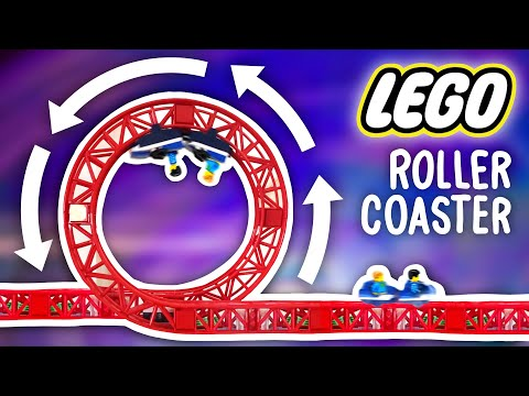 I Built a HUGE Lego Rollercoaster - Floor to Ceiling!
