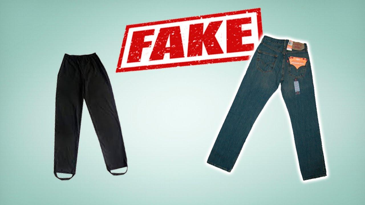 Джинсы Levi's 501 Original real vs fake. Как распознать подделку .