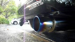 ロッソモデロ マフラー Ti-C チタン(ブルー) ホンダ フリード GB3