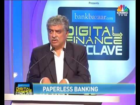 Nandan Nilekani at the #BankBazaarConclave2016 on #PaperlessFinance