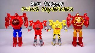Unboxing Jam Tangan Superhero dan Jam Robot Anak | Ada Superhero Ironman & Spiderman