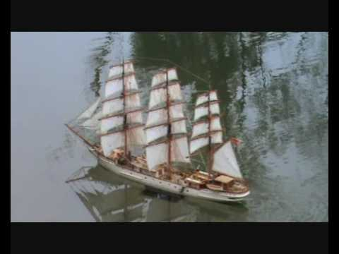 Sailing Ship RC-Model Danmark on Expedition.wmv - YouTube