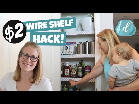 DOLLAR TREE WIRE SHELF HACK! 💙 Perfect Apartment Organization Idea!