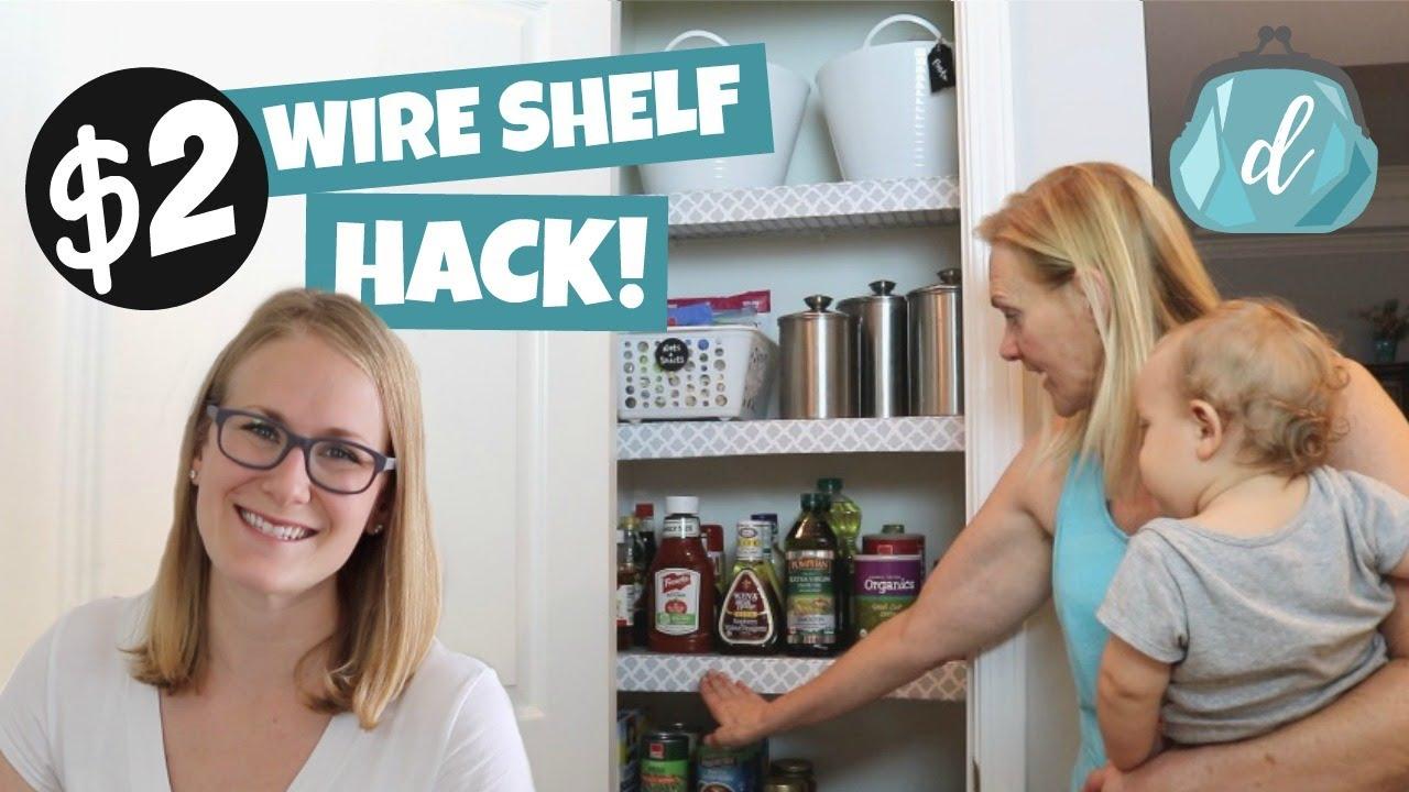 dollar tree wire shelf hack perfect apartment organization idea