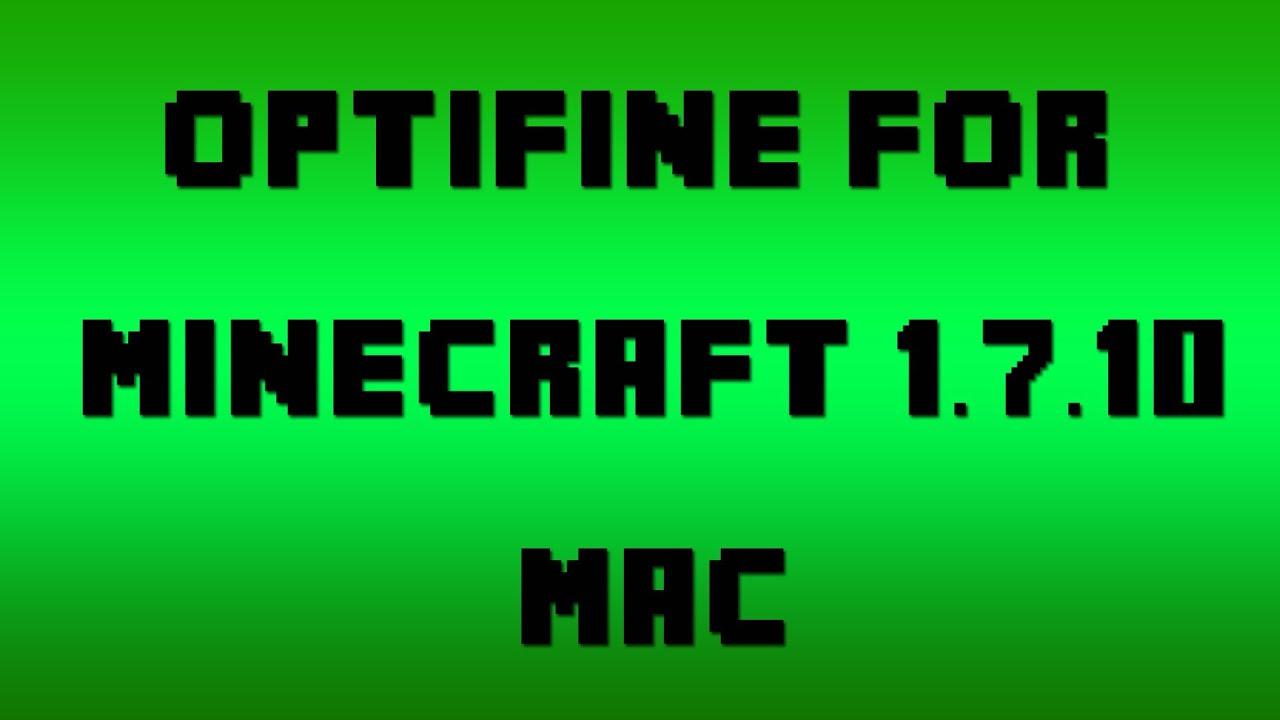 how to install optifine 1.8 mac