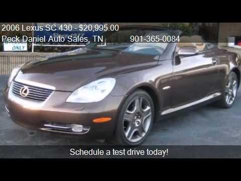 2006 lexus sc 430 convertible for sale in memphis tn. Black Bedroom Furniture Sets. Home Design Ideas