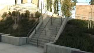 ollie 16 stair head hit!