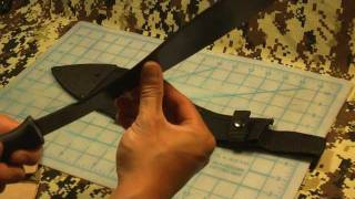 Cutting test with hand-sharpened Cold Steel Kukri Machete
