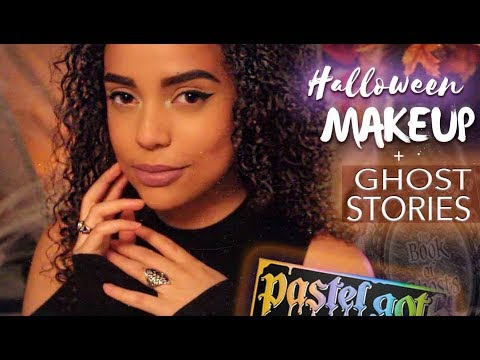 Doing Your Halloween Makeup | ROLEPLAY + GHOST STORIES | ASMR |
