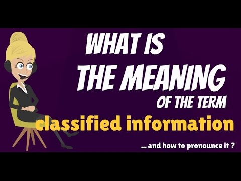 What is CLASSIFIED INFORMATION? What does CLASSIFIED INFORMATION mean?