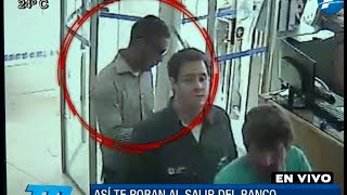 [VIDEO] Así te roban al salir del banco