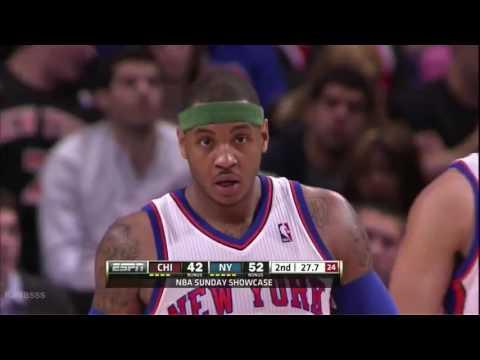 Carmelo Anthony vs Chicago Bulls Highlights (43points!)