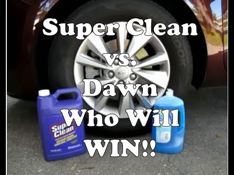 Super Clean vs  Dawn (Dish Detergent) Degreaser On Wheels & Tires | Who Will Win?