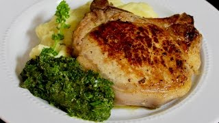 Pork Chops with Herb Sauce by Michaels Home Cooking