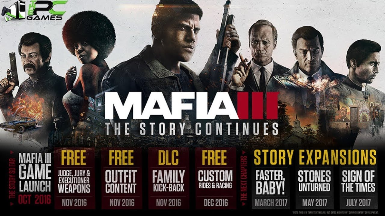 Mafia 3 Download PC Game Highly Compressed + Update + DLCs & Crack [WORKING]