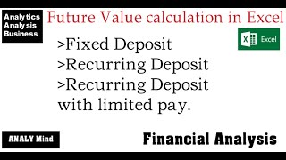 Future value analysis in excel| how to do future value analysis| future value analysis  formula