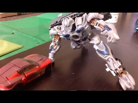 Transformers Age of Extinction Optimus Prime vs Galvatron Stop Motion