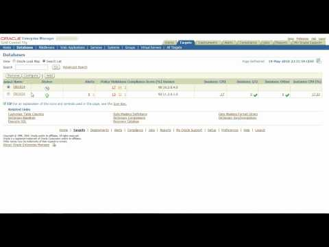 Oracle Enterprise Manager Grid Control 11g demo, overview, in action HD
