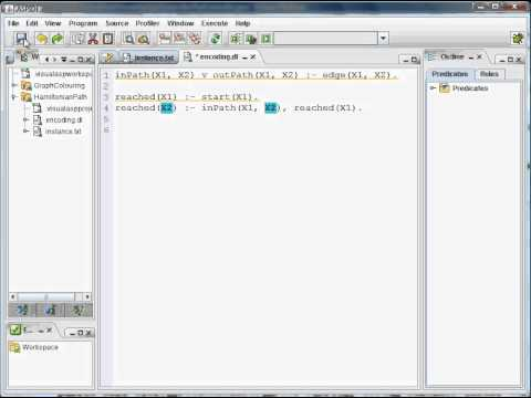 ASPIDE (Integrated Development Environment for Answer Set Programming) Tutorial