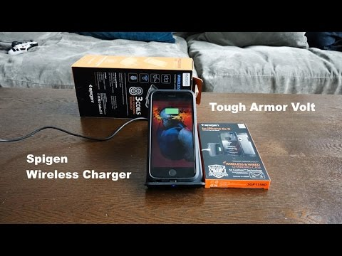 watch e6aa6 0c501 Spigen iPhone 6S Tough Armor Volt Case & Wireless Charger Review!!!