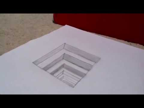 Optical Illusion Drawing - YouTube