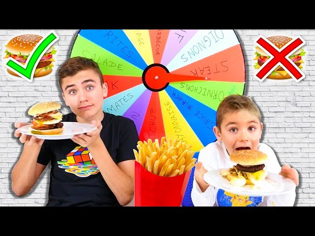 MYSTERY WHEEL OF BURGER CHALLENGE !!!