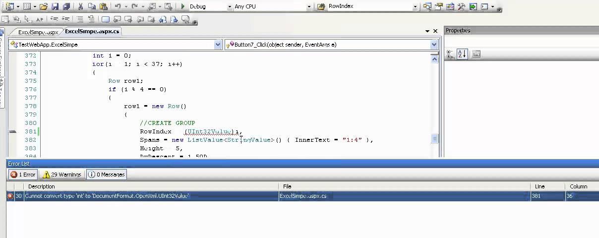 How to fix error - Error Cannot convert type 'int' to 'DocumentFormat  OpenXml UInt32Value'