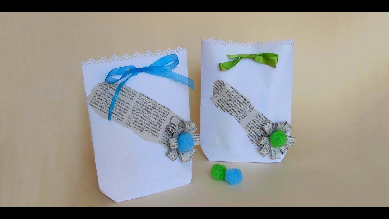 Como hacer bolsas de papel para regalo youtube - Hacer bolsas de papel en casa ...