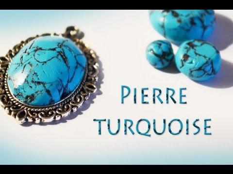 Favori TUTO FIMO: Faire des pierres turquoise en fimo ✐ - YouTube PY24