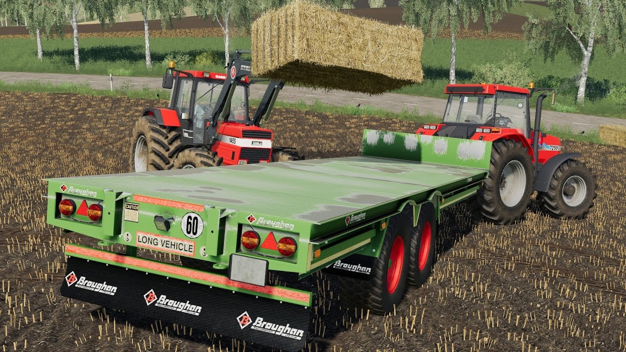 Bale handling with Broughan Trailers | Mod Preview | FS19