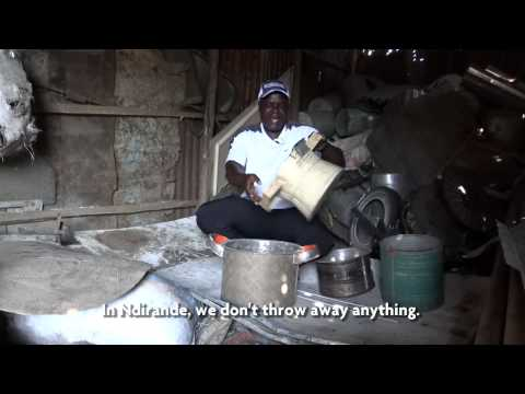 Ndirande, Malawi. Recycling in the slum