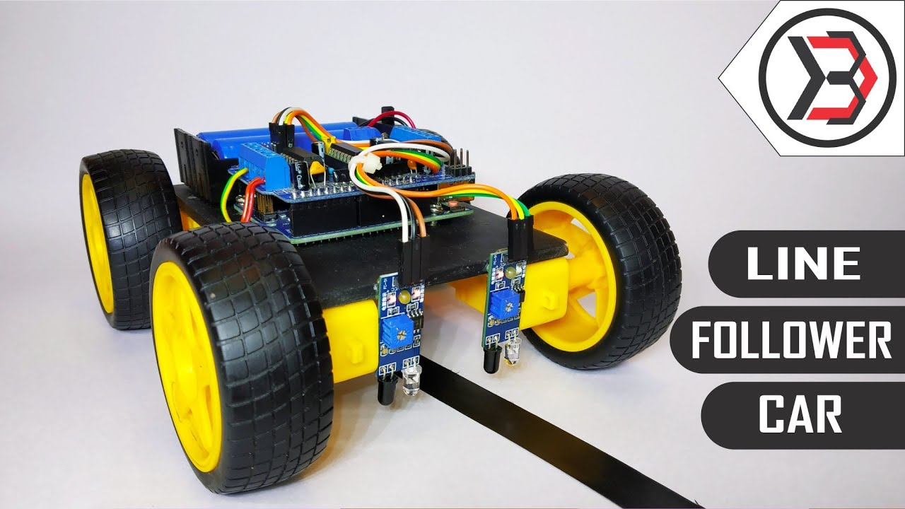 How To Make A Diy Arduino Line Follower Car At Home Youtube