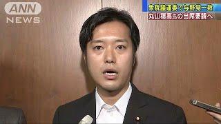 丸山穂高氏を聴取へ 衆院議運の理事会に出席を要請(19/05/23)