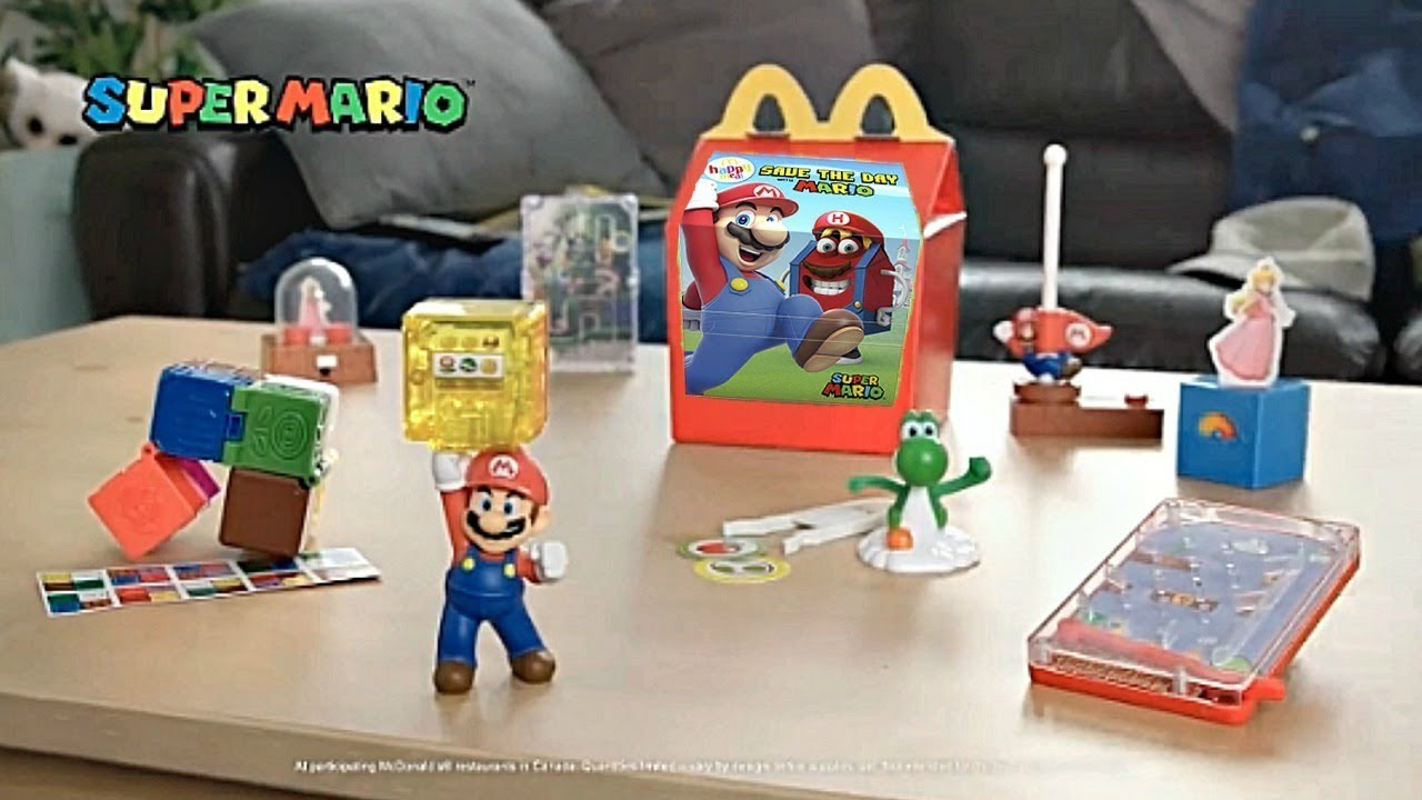 2018 New Mcdonalds Super Mario Happy Meal Toys Commercial