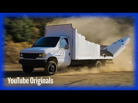Moving Truck vs Low Bridge in Slow Mo
