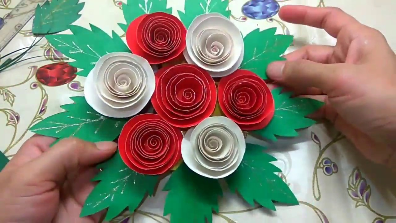 Best use of wedding cards and invitations as a wall hanging - YouTube