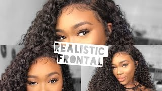 REALISTIC LACE FRONTAL INSTALLATION (NO TAPE, NO GLUE, OR GEL) 😮  | WESTKISSHAIR