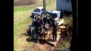 Бурение скважины на воду малогабаритной бензиновой буровой установкой drilling water wells(Бурение скважины на воду малогабаритной буровой установкой. Буровая установка смонтирована на легковом..., 2016-04-18T04:43:34.000Z)