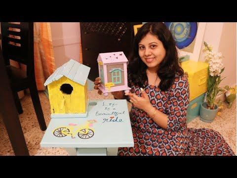 DIY Coffee Table & Bird House Makeover For Balcony | DIY Easy Home Decor Ideas | Maitreyee's Passion