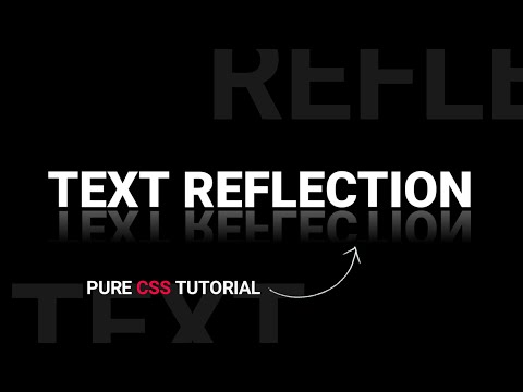 Text Reflection Using CSS Only | Pure CSS Text Shadow Effect Tutorial | Webkit Coding