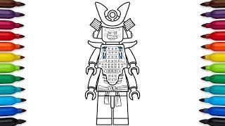 How to draw Lego Ninjago Lord Garmadon from the Lego Ninjago Movie