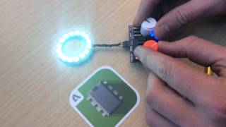 Controlling A Neopixel Ring With A 123d Circuits Board