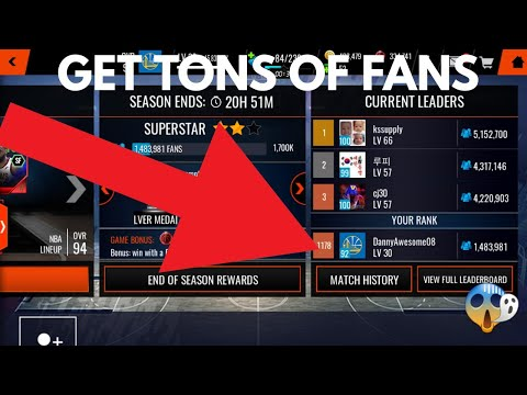HOW TO GET MILLIONS OF FANS AND 96+ SHOWDOWN MASTERS!!!NBA Live Mobile 18 Showdown Tutorial