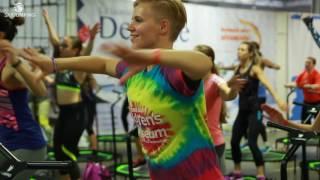 SkyJumping Trampoline workout on Lvivfitnessweekend !!!!