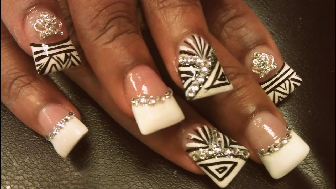 HOW TO FRENCH MANICURE DUCK NAIL DESIGNS - YouTube