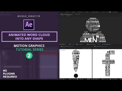 Animated Word Cloud into any shape in After Effects | No Plugin Required